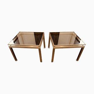 Tables d'Appoint par Guy Lefevre pour Maison Jansen, 1970s, Set de 2
