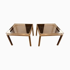 Tavolini di Guy Lefevre per Maison Jansen, anni '70, set di 2