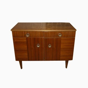 Walnut Shoe Cabinet or Dresser, 1960s