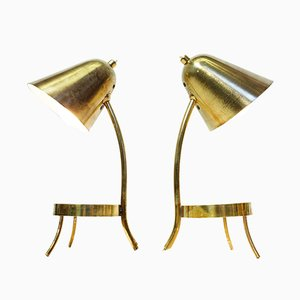 Brass Lamps, 1950s, Set of 2