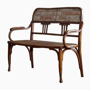 Antike Sitzbank aus Bugholz