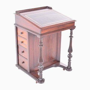 Antique Victorian Rosewood Davenport
