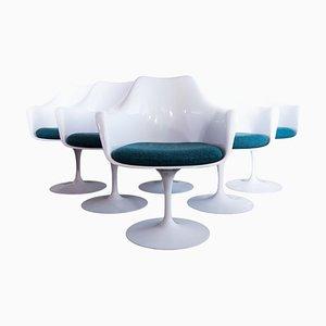 Poltrone girevoli Tulip di Eero Saarinen per Knoll, anni '50, set di 6
