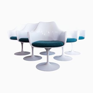 Tulip Swivel Armchairs by Eero Saarinen for Knoll, 1950s, Set of 6