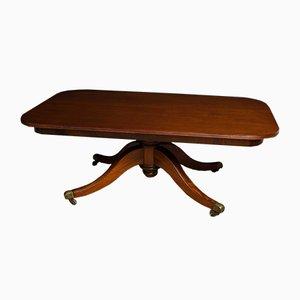 Mesa de comedor antigua grande de caoba