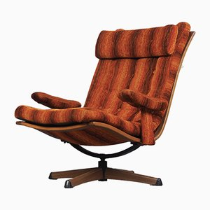 Mid-Century Swivel Easy Chair from Göte Möbler