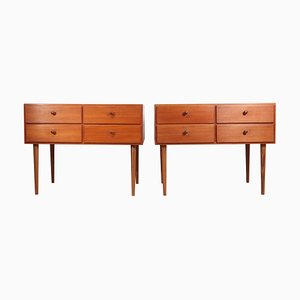 Commodes Mid-Century en Teck, Danemark, Set de 2
