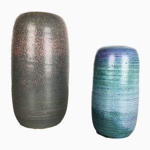 Jarrones de cerámica de Piet Knepper para Mobach, años 70. Juego de 2