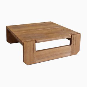 Solid Elm Coffee Table by Pierre Chapo for Regain, 1970s
