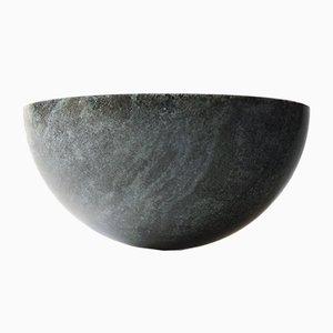 Silber-grüne Ittoli Schale von Lincoln Kayiwa für KAYIWA, 2017