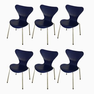Series 7 Chairs by Arne Jacobsen for Fritz Hansen, 2001, Set of 6