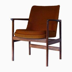 Sessel mit Gestell aus Palisander von Ib Kofod Larsen