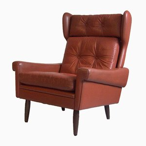 Leather Armchair by Svend Skipper for Skipper, 1960s