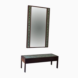 Rosewood Coffee Table & Mirror by Poul Jensen & L. Hjorth