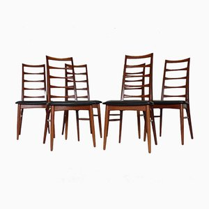 Model Lise Teak Dining Chairs by Niels Koefoed for Hornslet Møbelfabrik, 1960s, Set of 6