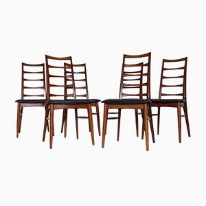 Modell Lise Esszimmerstühle aus Teak von Niels Koefoed für Hornslet Møbelfabrik, 1960er, 6er Set