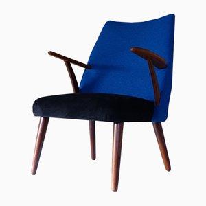 Vintage Teak & Fabric Armchair