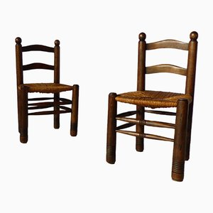 Vintage Chairs, 1940s, Set of 2
