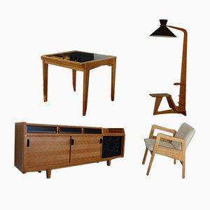 Set da salotto vintage di Guillerme et Chambron per Votre Maison