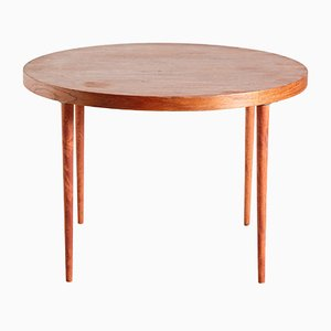 Vintage Danish Round Teak Coffee Table, 1950s