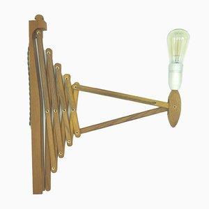 Vintage Teak Scissor Lamp by Erik Hansen for Le Klint, 1960s