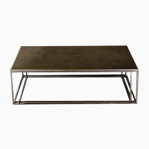Table Basse Binate en Laiton par Richy Almond pour NOVOCASTRIAN