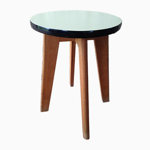 Mid-Century Yellow & Black Formica Stool