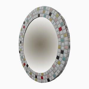 Espejo Mid-Century moderno de mosaico, años 50