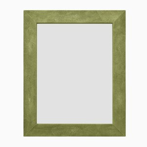 Green Eco-Galuchat Leather Brigitte Mirror from Cupioli Luxury Living