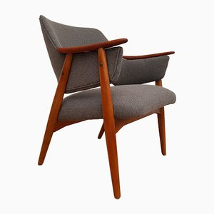 Scandinavian Wool Armchair, 1960s