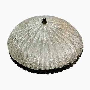 Frosted Murano Glass Ceiling Light from Effetre, 1970s