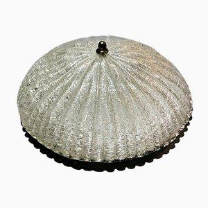 Lampada da soffitto in vetro di Murano smerigliato di Effetre, anni '70