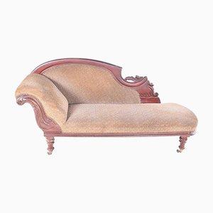 Chaise Longue Victorienne en Acajou