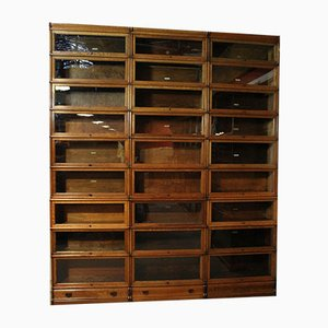 Antique Oak Cabinet Set from Globe Wernicke