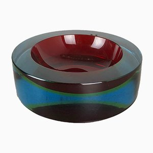 Large Vintage Murano Glass Sommerso Bowl from Cenedese, 1970s