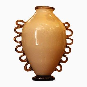 Vase Incamiciato Vintage en Verre par Napoleone Martinuzzi pour CAM Vetri d'Arte di Murano, 1930s