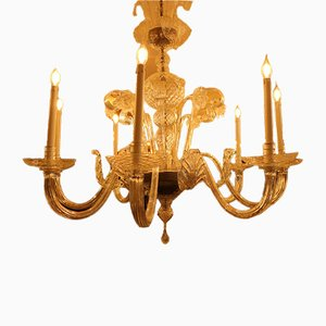 Antique Blown-Glass Chandelier
