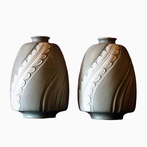 Piuma Vases by Giovanni Gariboldi for Richard Ginori, 1930s, Set of 2