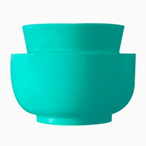 Grüne toskanische Vase von Gariboldi für Richard Ginori, 1930er