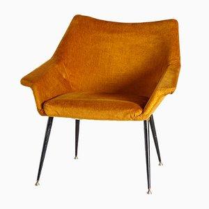 Goldener Vintage Sessel, 1970er