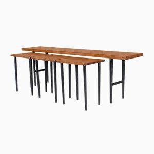 Tavolini ad incastro Mid-Century in palissandro di Kurt Østervig per Jason Furniture, anni '50