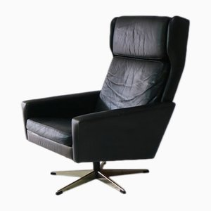 Mid-Century Danish Leather Lounge Chair, 1970s