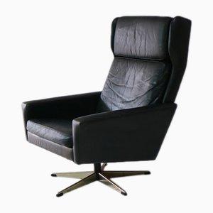 Mid-Century Danish Leather Lounge Chair, 1970s