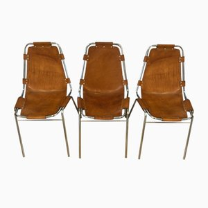 Les Arcs Dining Chairs by Charlotte Perriand for DalVera, 1960s, Set of 3