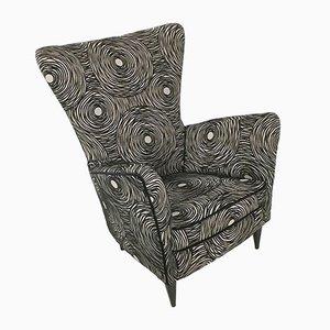 Schwarze italienische Sessel von Gio Ponti, 1950er, 2er Set