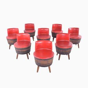 Vintage Fassstühle, 1960er, 8er Set