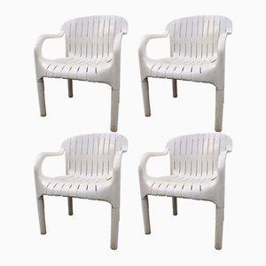 Gartenstühle von Pierre Paulin für Allibert 1970er, 4er Set