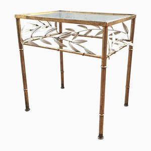 Mid-Century Golden Floral Console