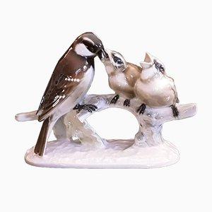Figurina Spatzenmahlzeit vintage di Richard Miller per Hutschenreuther