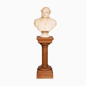 Busto de Thomas Spencer Wells de mármol de Richard Liebreich FRCS, 1879